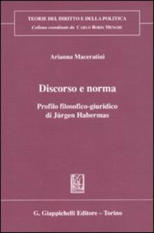Librisulrazzismo.it Discorso e norma. Profilo filosofico-giuridico di Jürgen Habermas Image