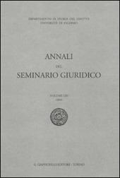 Annali del seminario giuridico (2009). Vol. 53