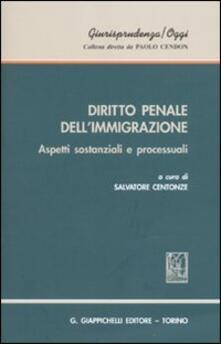 Radiosenisenews.it Diritto penale dell'immigrazione. Aspetti sostanziali e processuali Image