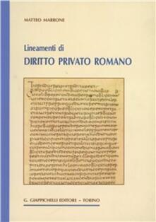 Librisulladiversita.it Lineamenti di diritto privato romano Image