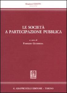 Libro Le società a partecipazione pubblica