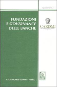 Equilibrifestival.it Fondazioni e governance delle banche. Atti del Convegno (San Miniato, 23 ottobre 2009) Image