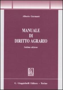 Manuale di diritto agrario
