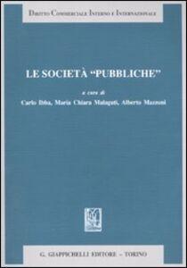 Libro Le società «pubbliche»