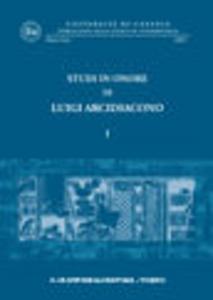 Libro Studi in onore di Luigi Arcidiacono