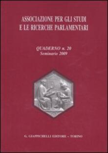 Ipabsantonioabatetrino.it Associazione per gli studi e le ricerche parlamentari. Vol. 20: Seminario 2009. Image