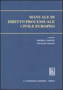 Partyperilperu.it Manuale di diritto processuale civile europeo Image