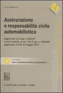 Rallydeicolliscaligeri.it Assicurazione e responsabilità civile automobilistica. Con CD-ROM Image