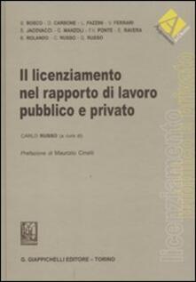 Promoartpalermo.it Il licenziamento nel rapporto di lavoro pubblico e privato Image