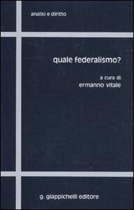 Quale federalismo? - copertina