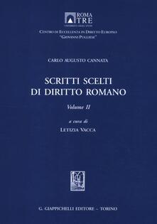 Milanospringparade.it Scritti scelti di diritto romano. Vol. 2 Image