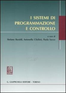 I sistemi di programmazione e controllo