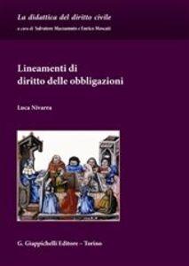 Libro Lineamenti di diritto delle obbligazioni Luca Nivarra