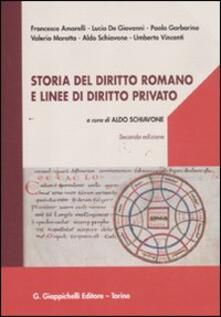 Criticalwinenotav.it Storia del diritto romano e linee di diritto privato Image