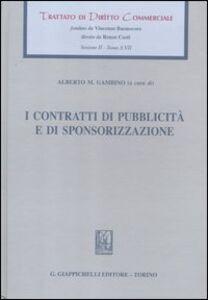 Libro I contratti di pubblicità e di sponsorizzazione