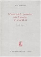 Cittadini popoli e comunione nella legislazione dei secoli IV-VI