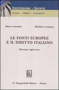 Libro Le fonti europee e il diritto italiano Marta Cartabia , Marilena Gennusa