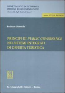Libro Principi di public governance nei sistemi integrati di offerta turistica Federico Rotondo