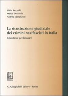 Ristorantezintonio.it La ricostruzione giudiziale dei crimini nazifascisti in Italia. Questioni preliminari Image