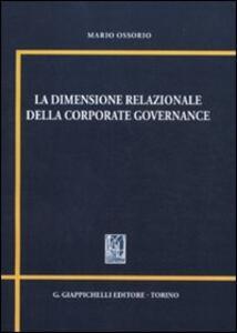 La dimensione relazionale della corporate governance