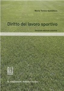 Diritto del lavoro sportivo - M. Teresa Spadafora - copertina