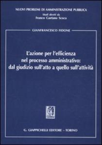 Libro L' azione per l'efficienza nel processo amministrativo: dal giudizio sull'atto a quello sull'attività Gianfrancesco Fidone