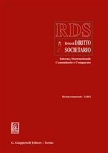 Secchiarapita.it RDS. Rivista di diritto societario interno, internazionale comunitario e comparato (2012). Vol. 1 Image