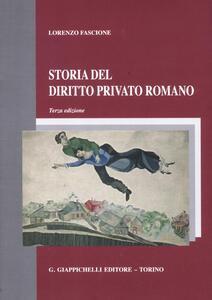 Storia del diritto privato romano - Lorenzo Fascione - copertina