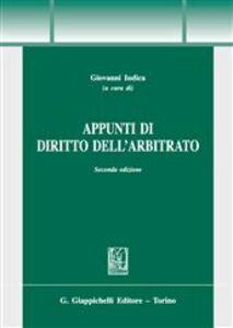 Libro Appunti di dirtto dell'arbitrato