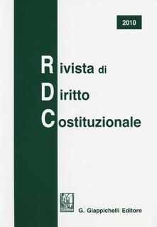 Radiospeed.it Rivista di diritto costituzionale (2010) Image