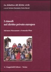 I rimedi nel diritto privato europeo