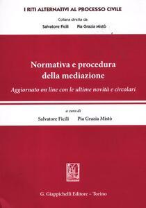 Normativa e procedura della mediazione - copertina