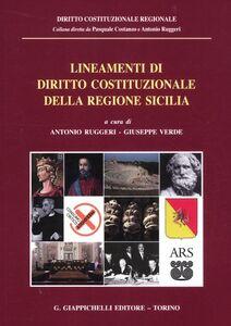 Foto Cover di Lineamenti di diritto costituzionale della regione Sicilia, Libro di  edito da Giappichelli