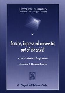 Antondemarirreguera.es Banche, imprese ed università: out of the crisis? Image