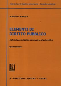 Libro Elementi di diritto pubblico. Materiali per la didattica con percorsi di autoverifica Roberto Pinardi