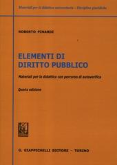 Elementi di diritto pubblico. Materiali per la didattica con percorsi di autoverifica