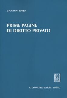Camfeed.it Prime pagine di diritto privato Image