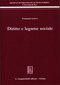 Libro Diritto e legame sociale Tommaso Greco