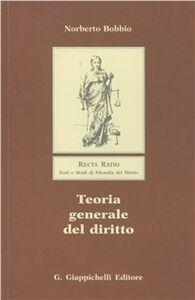 Libro Teoria generale del diritto Norberto Bobbio
