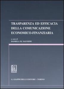 Trasparenza ed efficacia nella comunicazione economico-finanziaria