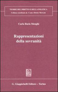 Libro Rappresentazioni della sovranità Carlo Menghi