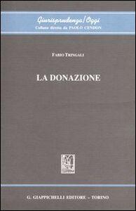 Foto Cover di La donazione, Libro di Fabio Tringali, edito da Giappichelli