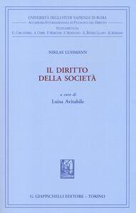 Foto Cover di Il diritto della società, Libro di Niklas Luhmann, edito da Giappichelli