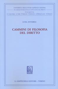 Libro Cammini di filosofia del diritto Luisa Avitabile