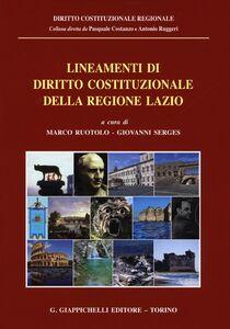 Libro Lineamenti di diritto costituzionale della regione Lazio