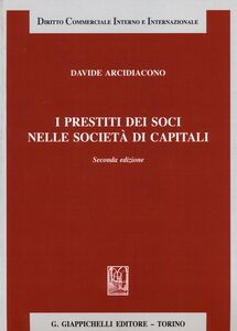 Libro I prestiti dei soci nelle società di capitali Davide Arcidiacono