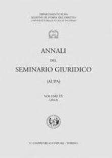 Parcoarenas.it Annali del seminario giuridico. Vol. 55 Image