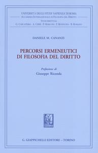 Libro Percorsi ermeneutici di filosofia del diritto. Vol. 1 Daniele M. Cananzi