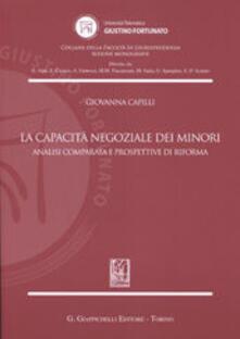 La capacità negoziale dei minori. Analisi comparata e prospettive di riforma.pdf