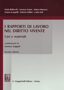 I rapporti di lavoro nel diritto vivente. Casi e materiali.pdf